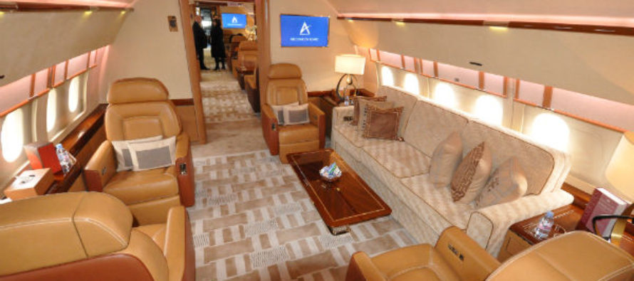 Вариант салона ACJ320neo для Acropolis Aviation.