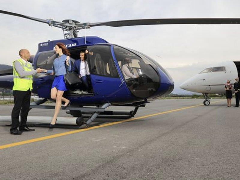 monacair helicopter H130 social - Горнолыжные курорты Франции: сколько стоит долететь туда на вертолете
