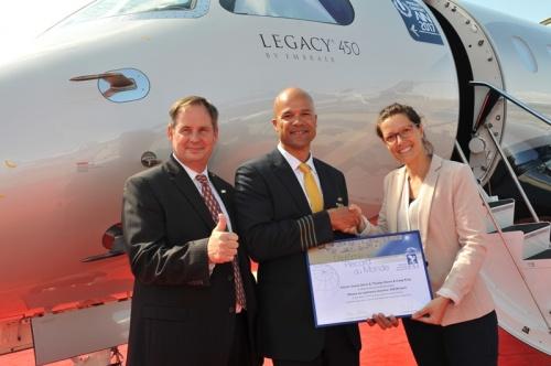 Бизнес-джет Legacy 450 установил мировой рекорд скорости