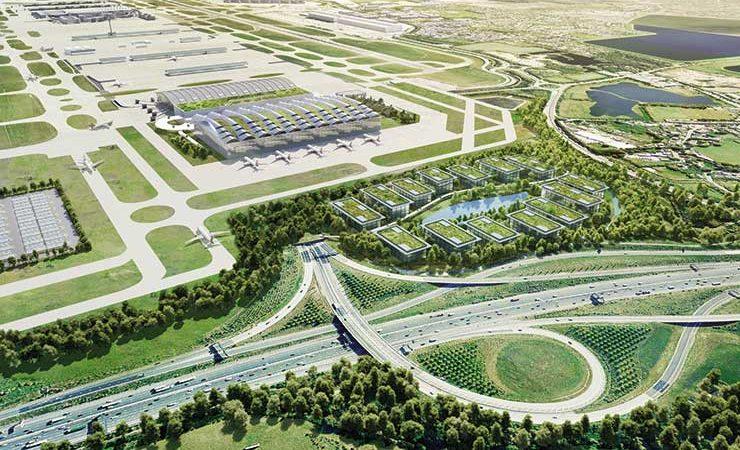 Визуализация расширенного аэропорта Хитроу