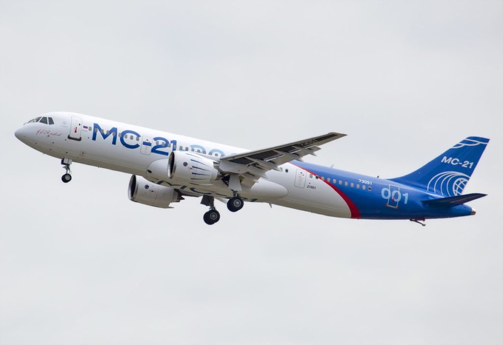 1200px Maiden flight of MC 21 1024x703 - Российский МС-21 проходит валидацию в EASA: что нового?