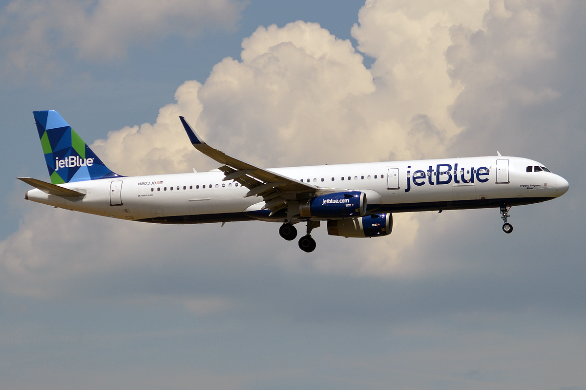 JetBlue Airways N903JB Airbus A321 231 19561503063 - Стюардессы нарушили правила во имя спасения собаки