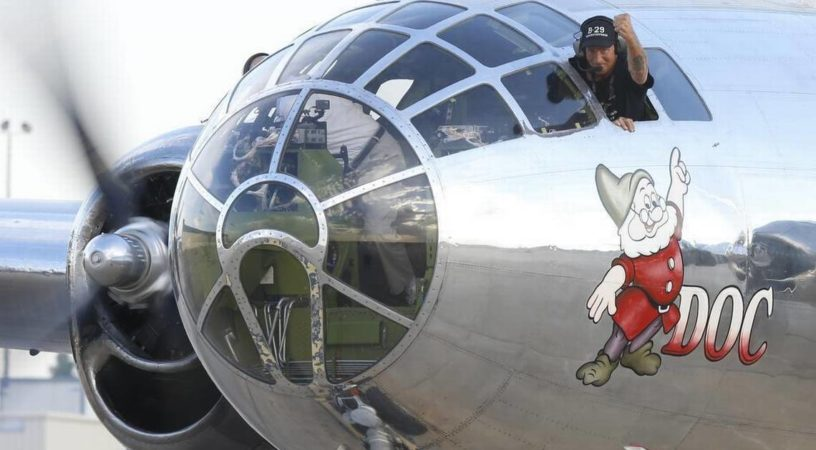 091715doc b 29 br21 2 816x450 - 1500 долларов за рейс на историческом бомбардировщике B-29 «Doc»