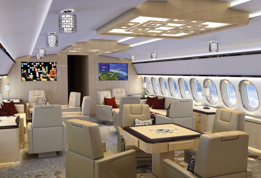 515 lounge1 - В Тулузе закончена сборка бизнес-джета  ACJ320