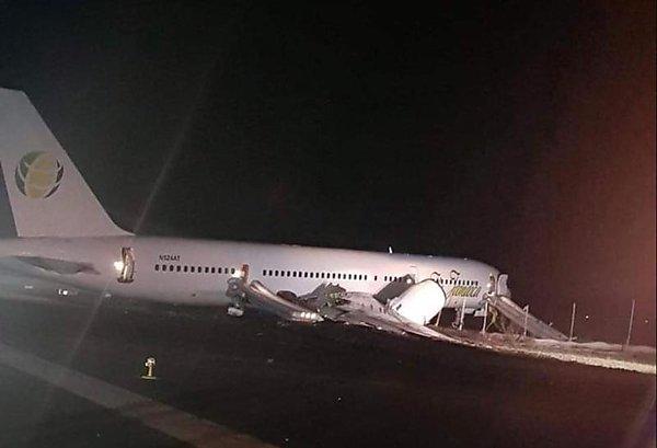Ae`roport Dzhordzhtauna - В аэропорту Джорджтауна самолет выкатился на грунт