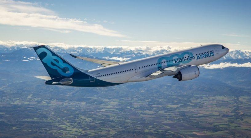 A330-800 успешно совершил свой первый перелет
