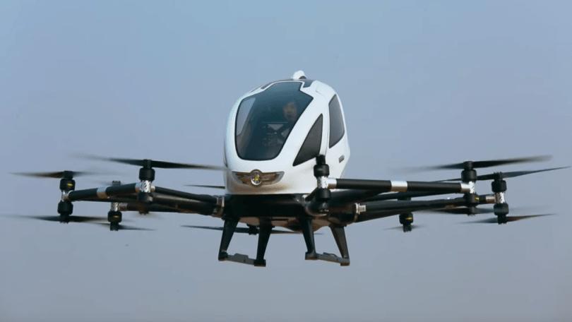 В Китае началась опытная эксплуатация аэротакси EH216