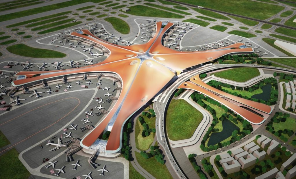 Beijing Daxing International Airport 1024x620 - Новый аэропорт в Пекине
