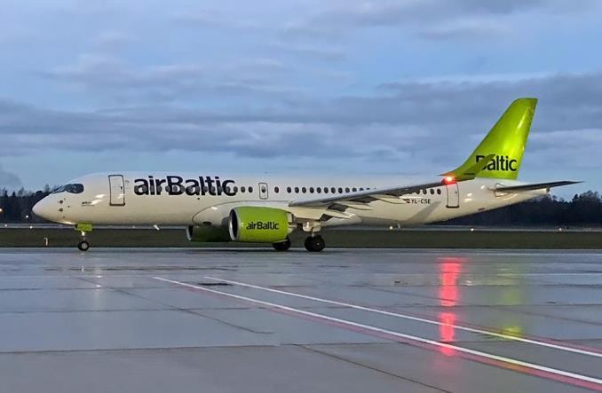 a220airbaltic - airBaltic получила очередной Airbus A220-300