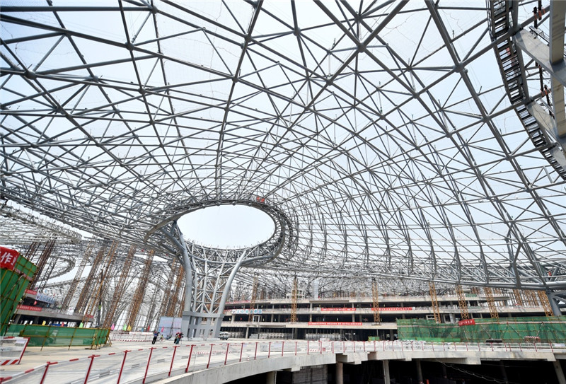 estructura acero nuevo aeropuerto internacional de Peki  n - Новый аэропорт в Пекине