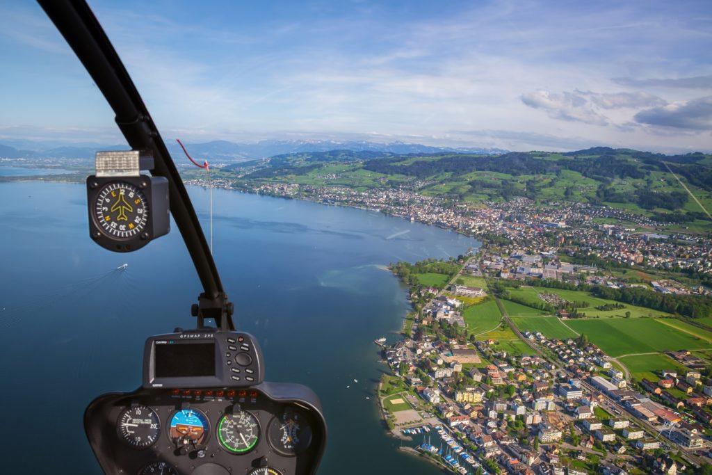 Вид из летящего вертолета