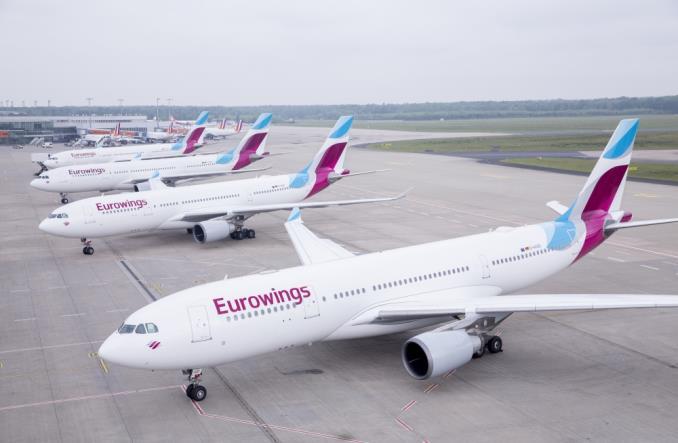 eurowingsa330lineupi - Lufthansa отменила более 100 рейсов из-за действий UFO