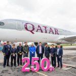 Теперь у Qatar Airways  ровно 250 самолетов