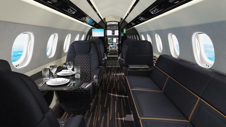 p600   interior   brochure   view   1 free big - Embraer Praetor 600 с системой снижения турбулентности  сертифицирован в Anac