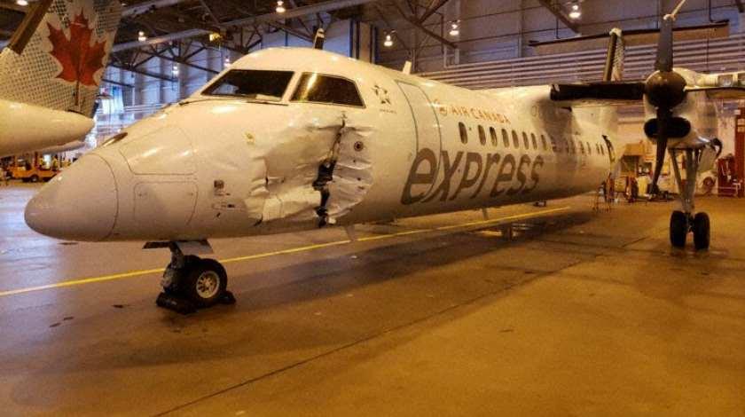 Бензовоз столкнулся с Dash 8-300 авиакомпании Jazz