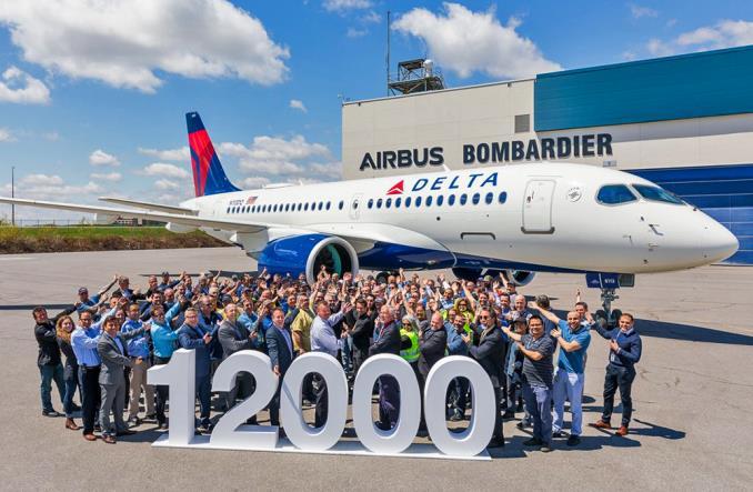 a220DeltaAirbus - 12-тысячный Airbus передан заказчику