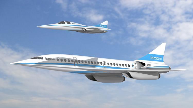 boom xb 1 and boom - Компания Dassault Systèmes включилась в проект сверхзвукового авиалайнера Overture