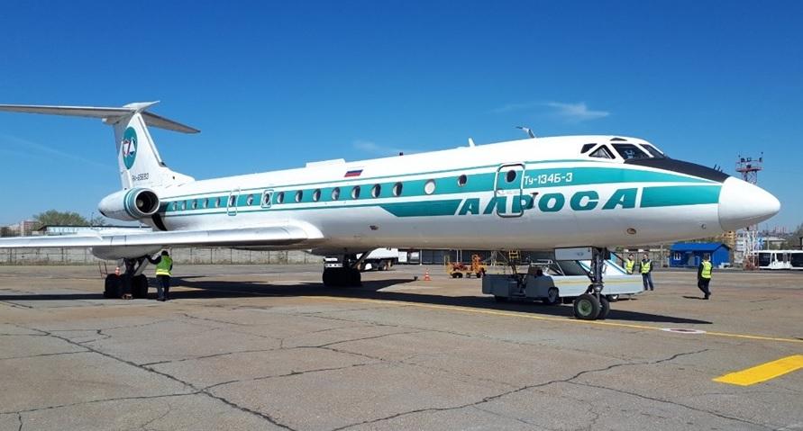 yourfile 1 - АЛРОСА передаст последний Ту-134 в музей