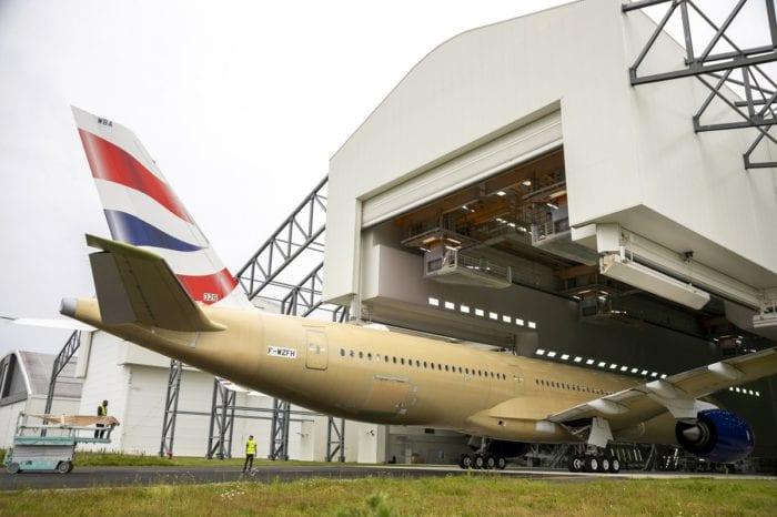 1 2 - Первый Airbus A350 для British Airways приближается к завершению