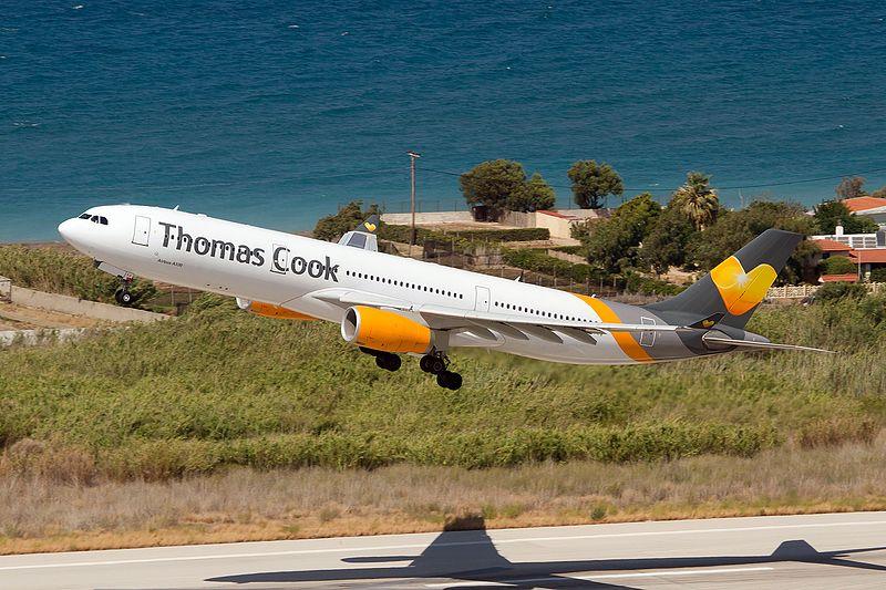 Thomas Cook Airlines Scandinavia Airbus A330 343 OY VKG takes off at Rhodes - Чартерная авиакомпания HiFly делает ставку на покупку Thomas Cook