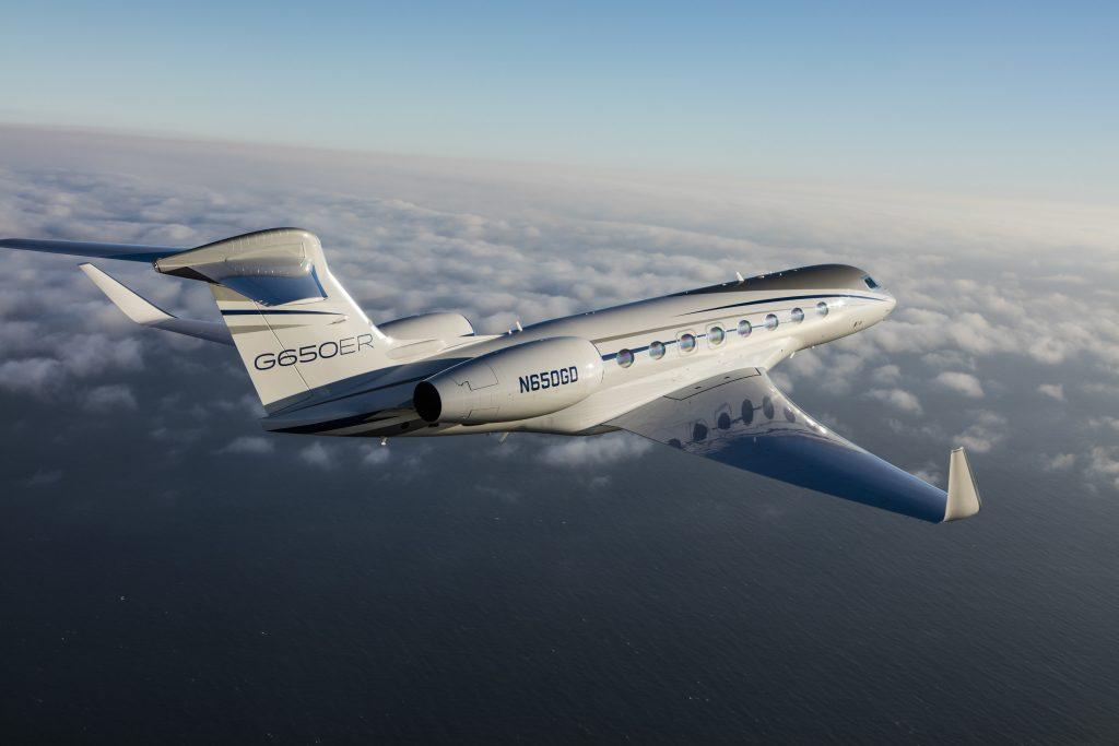 Gulfstream  G650ER  предоставленный для побития рекорда