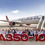 Virgin Atlantic получила свой первый A350-1000