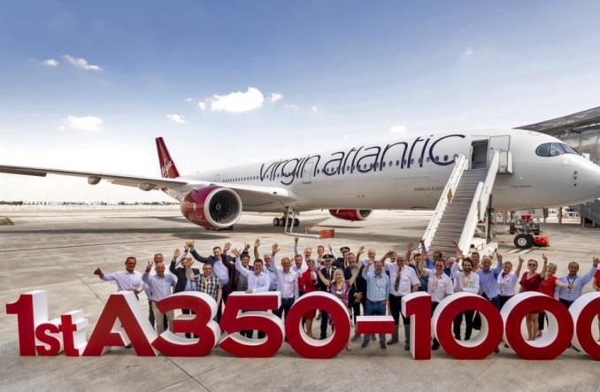 VirginAtlantic1stA350 - Компания «Air France» получила Airbus A350