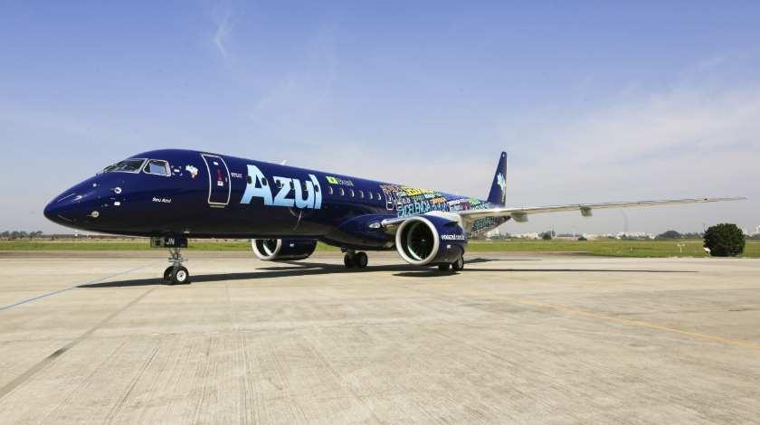 Azul получил свой первый Embraer E195-E2