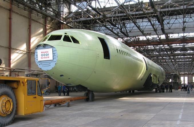 Собранный фюзеляж Ил-96-400