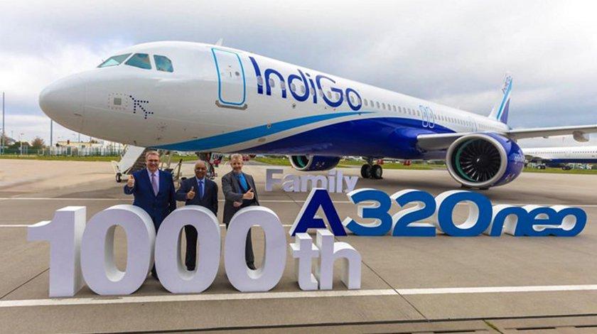 indigo takes delivery of 1000th airbus a320neo family aircraft - IndiGo получил тысячный самолет семейства Airbus A320neo