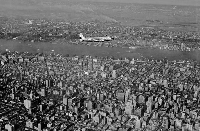 Первый полет KLM над Нью-Йорком