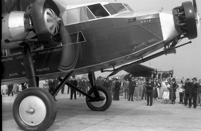 Начало первого трансатлантического рейса KLM