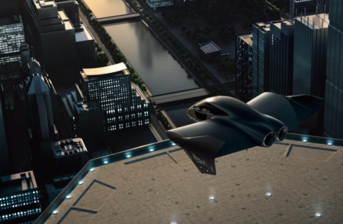 Концепт летающего лимузина Porsche-Boeing