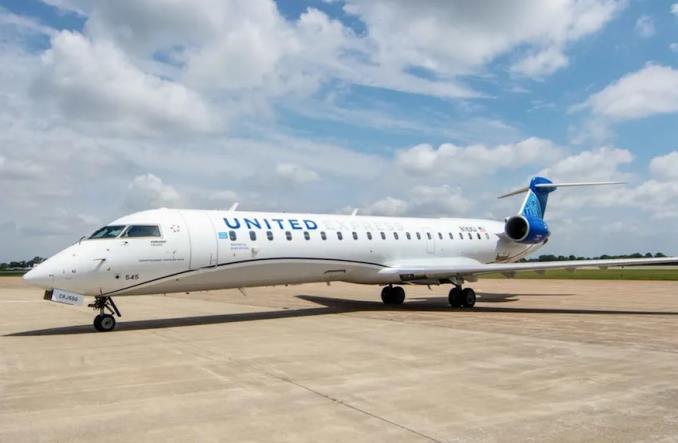 Новый CRJ550 для United Airlines