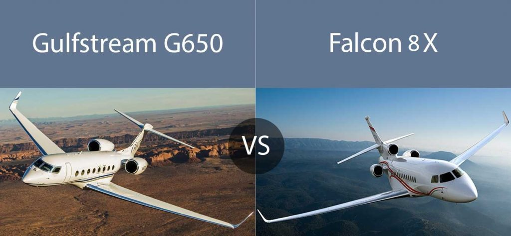 650 vs 8x 1024x474 - Gulfstream G650 или  Dassault Falcon 8X? Выбор нашей редакции...