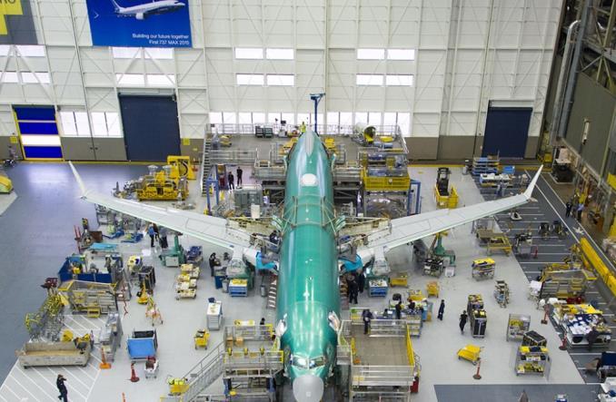 Сборочный цех Boeing 737 MAX в Китае
