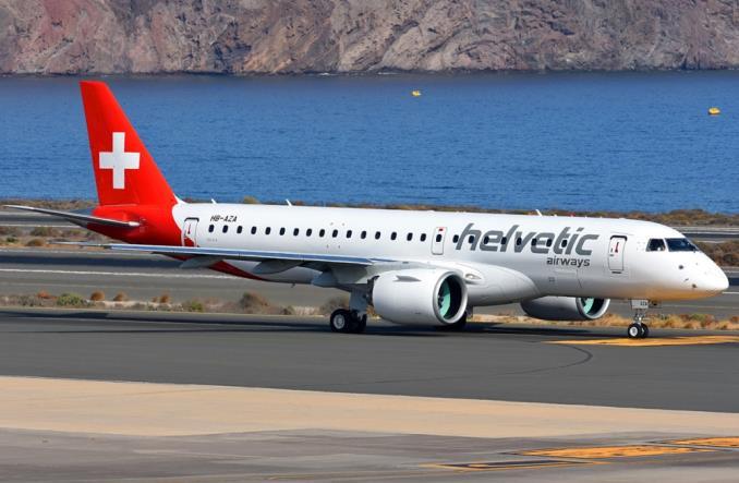 Первый E190-E2  для  компании Helvetic Airways