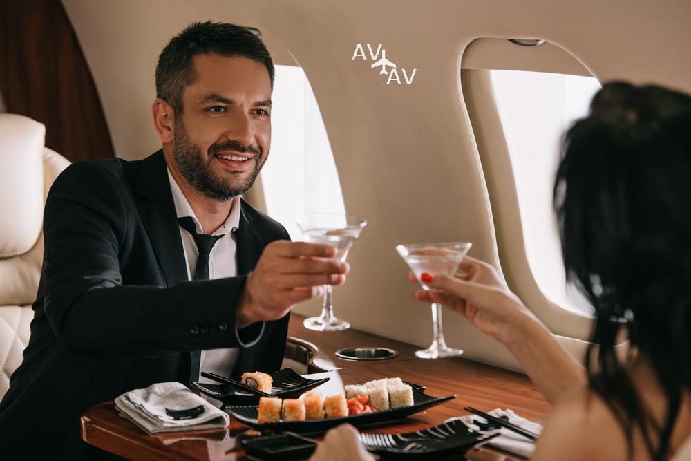 privat jet food 3 - Пир горой на борту частного самолета