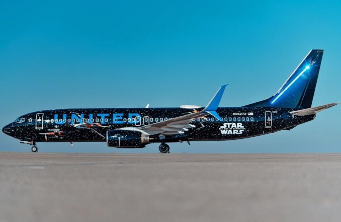 Boeing B737-800 авиакомпании United Airlines по мотивам