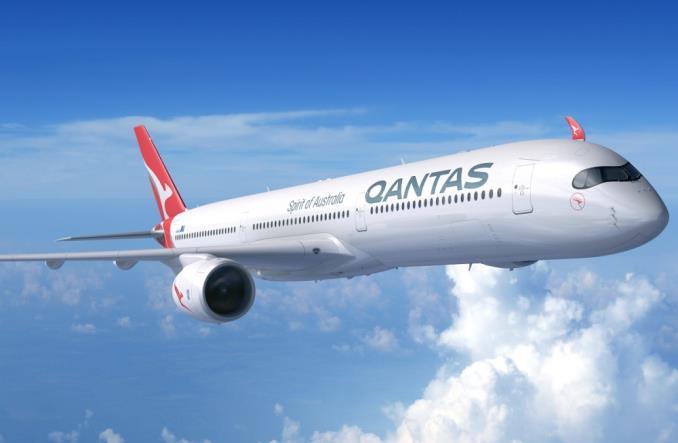 Авиалайнер A350-1000 компании Qantas