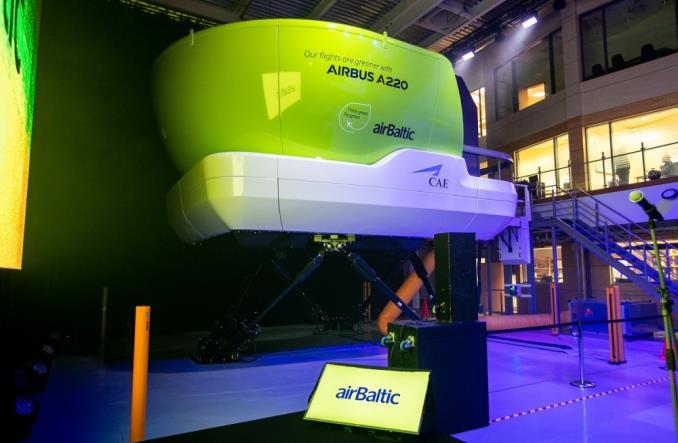 Новый симулятор Airbus A220 авиакомпании AirBaltic