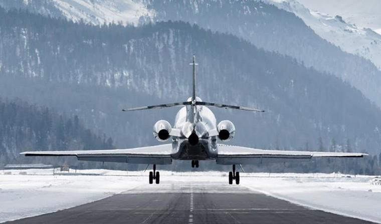 Dassault Falcon в Давосе