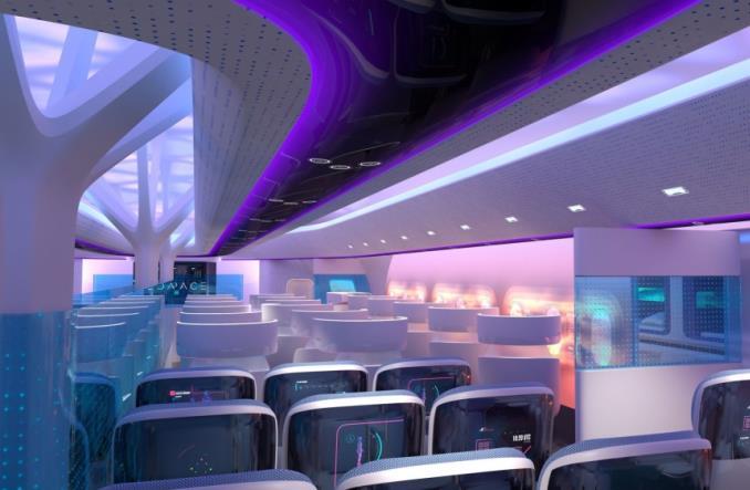 Пассажирский салон самолета Maveric (концепция)