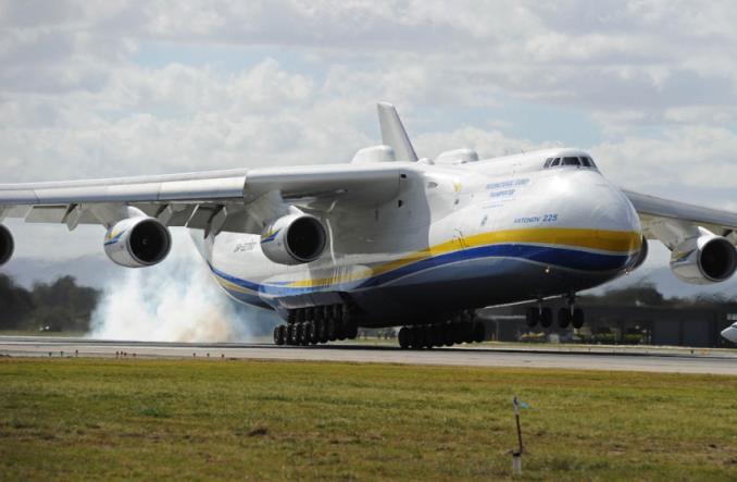 Ан-225 Мрiя оснащенный двигателями Мотор-Сич