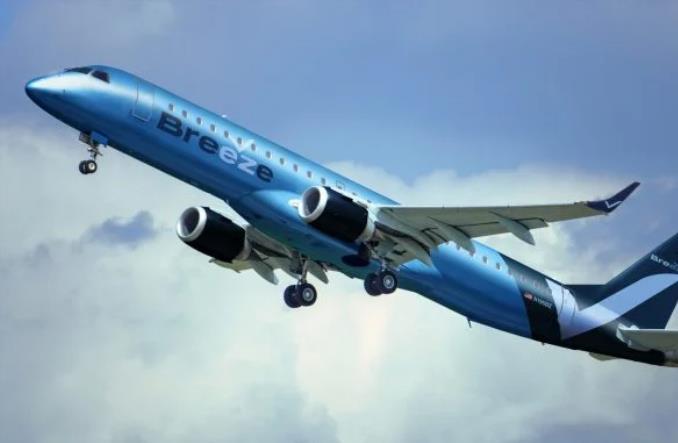 Визуализация окраски E195 для Breeze Airways