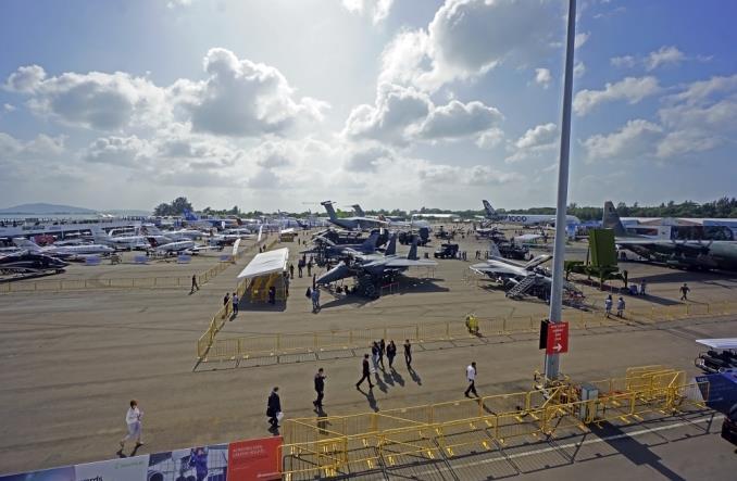 Выставочная площадка Singapure Airshow 2020