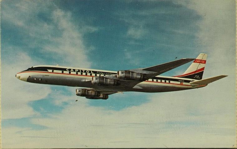 Популярный DC-8 был первым коммерческим самолетом Douglas