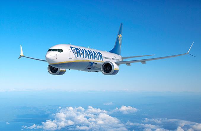 Max в ливрее Ryanair