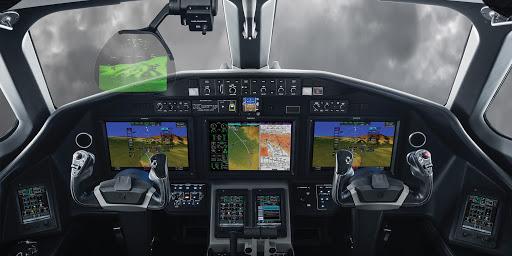 Кабина пилотов Салон Cessna-Longitude