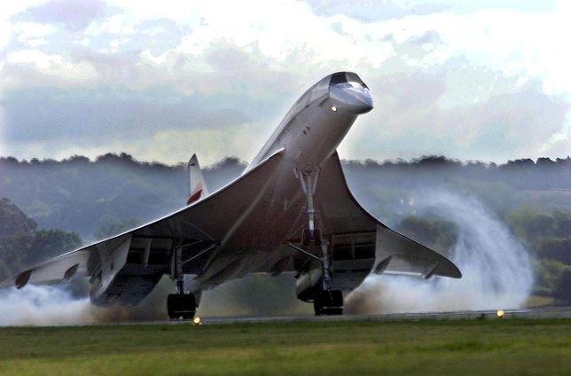 Concorde на взлете